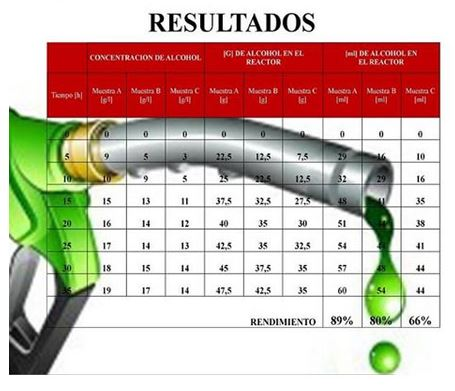 Resultados Algarrobol Biocombustible