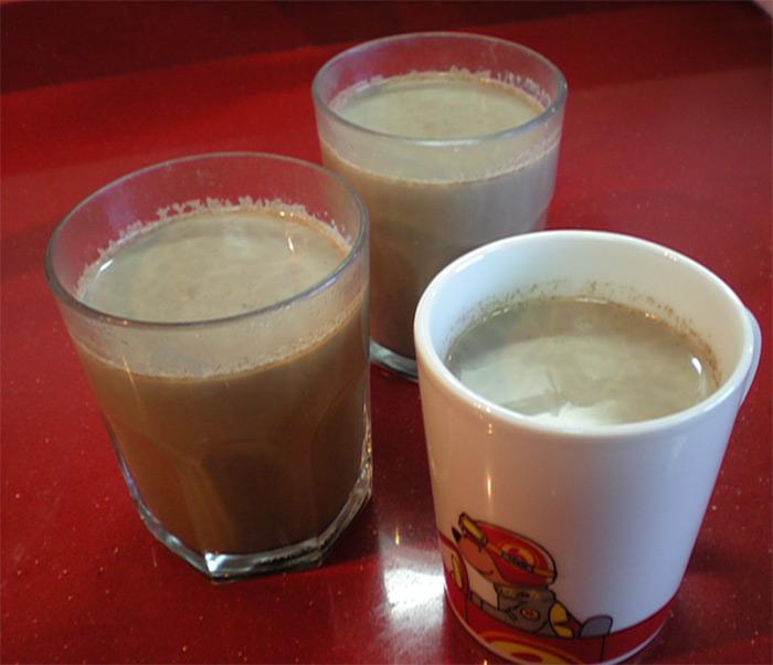 bebida de algarroba y cacao