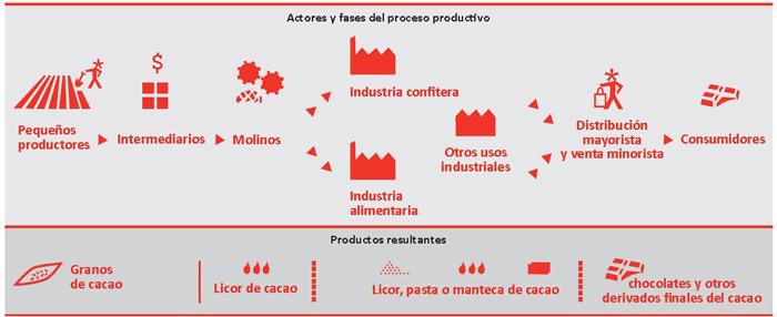 Actores y Fases del Proceso Productivo del Cacao
