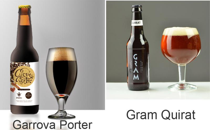 Garrova Porter y Grim Quirat cervezas de algarroba