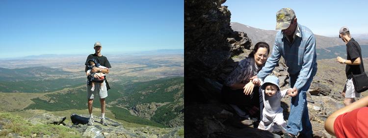 2004 Ruta en Familia a La Cuerda (vistas y descanso en la cima)