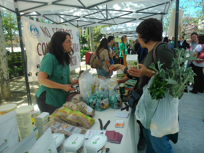 Caroube durante el Eco Mercado de Granada