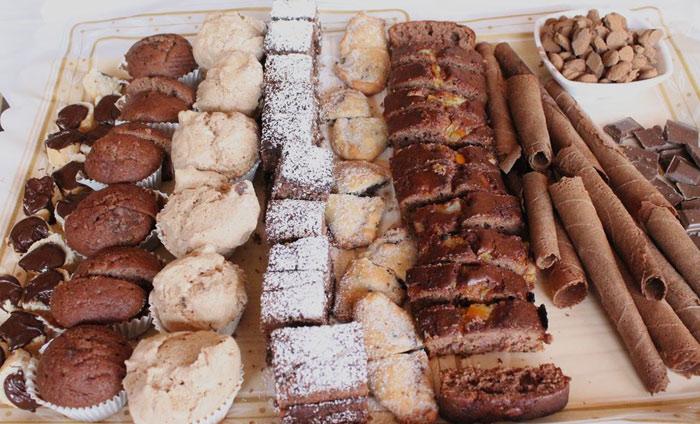 Productos elaborados con garrofa en la degustación jornada Mallorca 2014