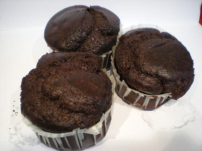 Magdalenas de Algarroba rellenas de Chocolate