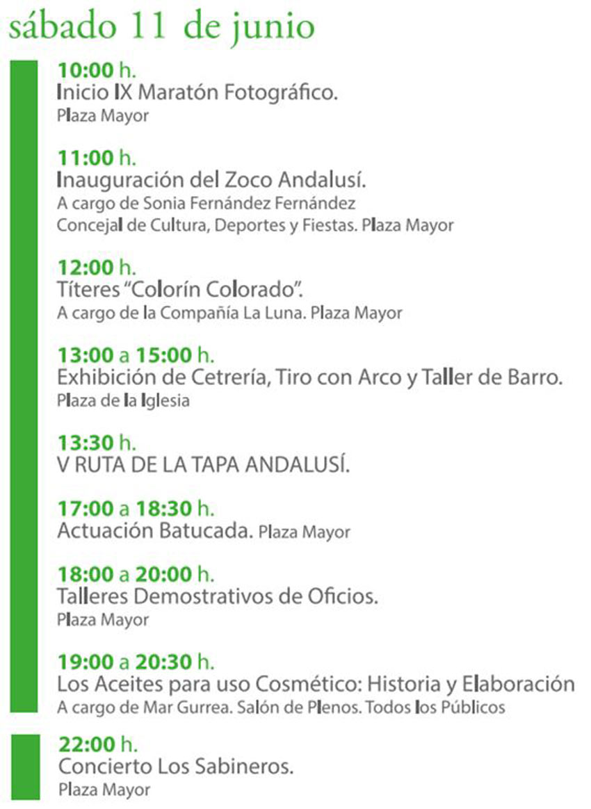 Programación Semana Cultural Güéjar Sierra Andalusí 2016