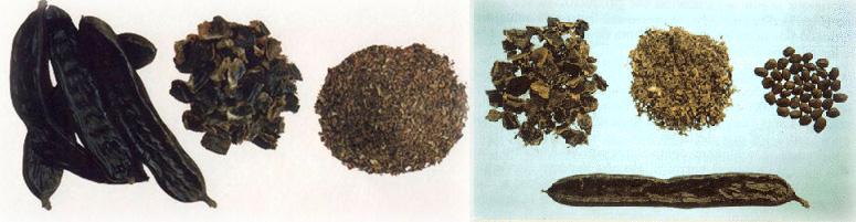 Algarrobas, Troceados y Garrofines
